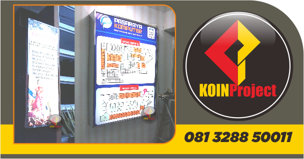 Neon box koin project Jogja
