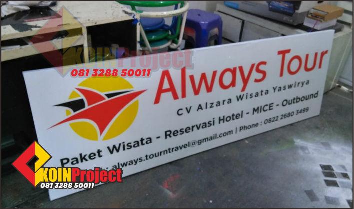 Pembuatan reklame papan plang nama di Jogja