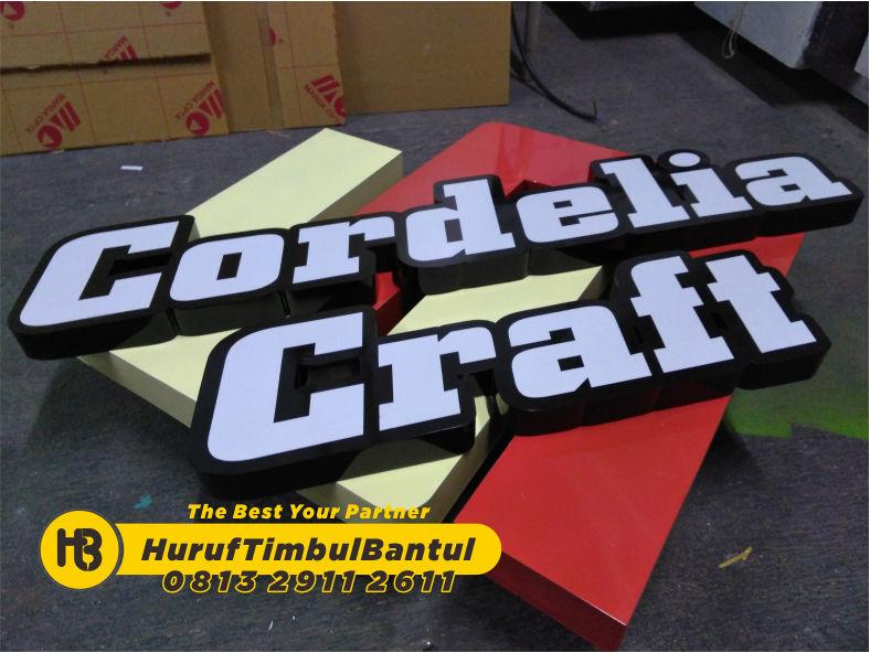 Jasa Huruf Timbul cordelia craft di Bantul
