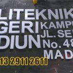Jasa Huruf Timbul galvanis politeknik madiun di Bantul