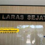 Jasa Huruf Timbul stainless kantor di Bantul
