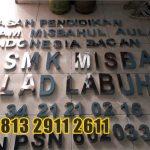 Jasa Huruf Timbul stainless labuha di Bantul