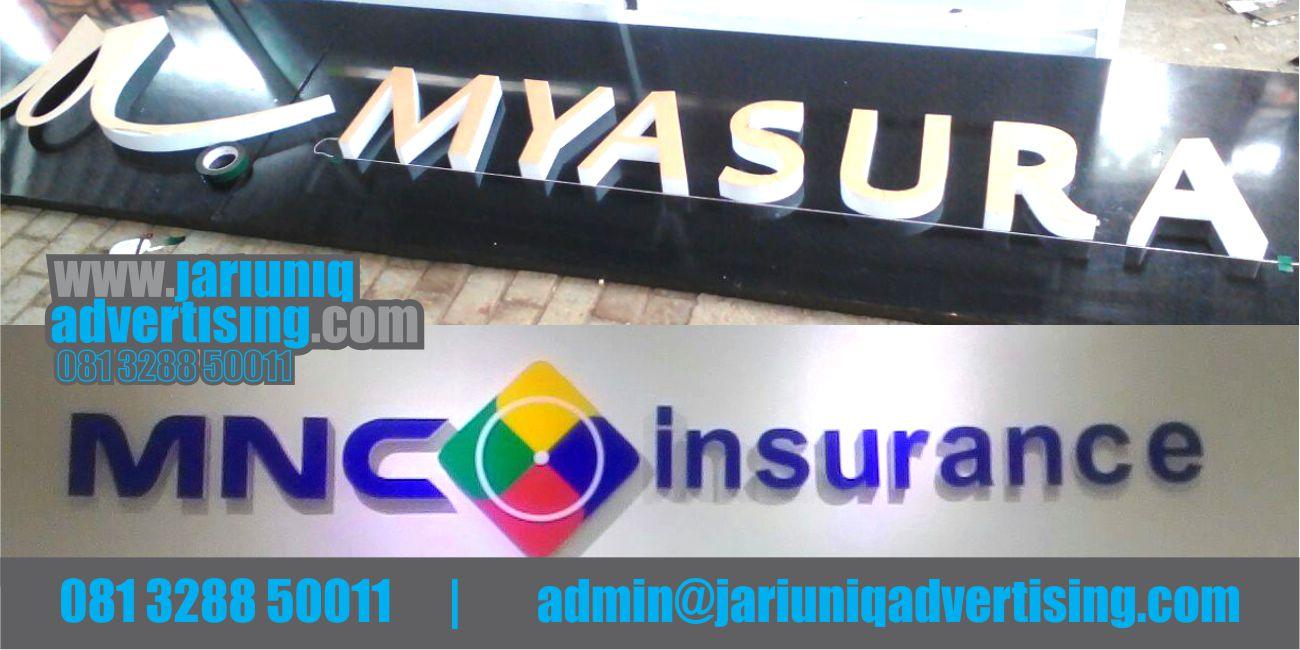 Jasa Advertising Jogja Huruf Timbul Akrilik MNC Insurance Di Yogya