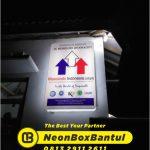 Pembuatan Neon Box murah di Bantul