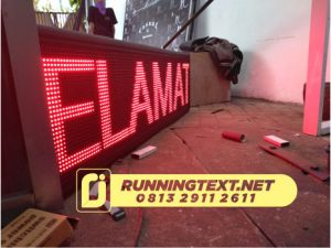 running text jogja