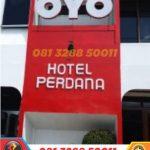 harga huruf timbul oyo rooms semarang